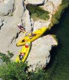 kayaks jaunes