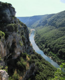 l'Ardèche de la grotte de la Madeleine