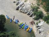 kayaks bleus