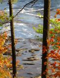 traces sur rivière