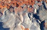 forme  de schiste rouge et gris