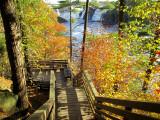 descente vers la rivière Chaudière