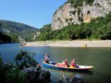 barque sur l'Ardèche