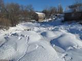 Rivière Trois-Saumons sous la neige