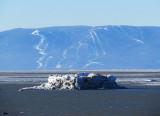 les pistes du Massif devant l'iceberg