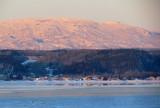 Les monts Vallin tout en rose