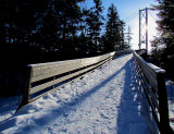 montée au pont suspendu