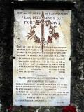 plaque commémorative Fort de Vaux