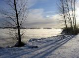 minus 40 degrees under the sun, St-Lawrence river