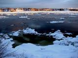 le fleuve en hiver