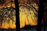 L'église au coucher du soleil