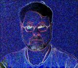 Autoportrait bleu