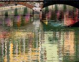 Annecy,  le reflet sous le pont