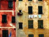 Murs bicolores à Portofino