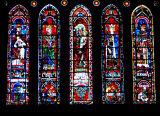 5 vitraux verticaux