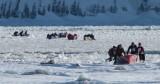marcher sur les glaces du fleuve
