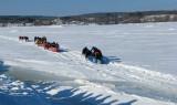 Portneuf , la course en canot