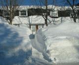 État de la neige à Québec à la fin février 2008