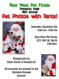 Pet Portraits with Santa 2008 Click for Pet Photos with Santa