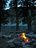 A warm fire on a cold nite at Trail Gulch Lake