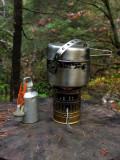 Vintage Sigg bottle and SVEA 123 stove