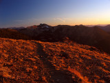 Sunset view of Marbles along PCT and Big Ridge