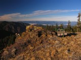 A historical rock along the PCT with a story and a great view,