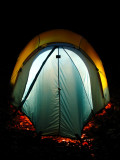 North Face Westwind tent at nite