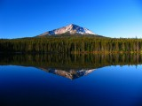 Squaw Lake and Mt McLoughlin reflection
