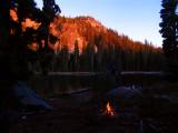 Sunrise at Margurette lake on a cold morning