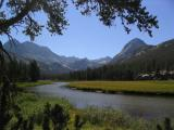 McClure Meadow in Evolution Valley, The Hermit on the right