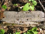 Vintage trail sign on the old Pacific Crest Trail