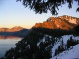 Crater Lake sunset from Lodge