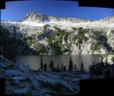 Grizzly Lake morning view panorama