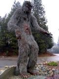Bigfoot statue in Happy Camp