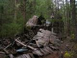 Nature reclaims what is hers. The Cedars cabins collapsed.