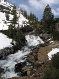 Emerald Lake's outlet waterfall