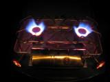 Optimus 22B twin burners roaring at max