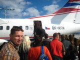Jos in front of the plane to Bratislava