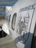 The logo of the plane to Bratislava