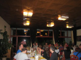 The opening speech of the Slovak organisers while having dinner