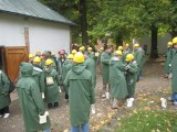 IMC participants ready to enter the complex