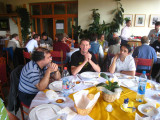 Romanian and Dutch participants at lunch