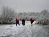 020 - Ankeveense plassen: De echte mannen op de ijzers!