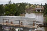 Foundations for the new Vic Olsen Bridge