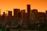 Denver skyline at dawn
