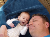 Telling daddy a story