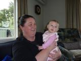 Cuddles with Auntie Stef