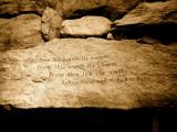 Fireplace Inscription