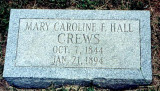 Mary Caroline Frances Hall (1844-1894)